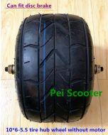 10inch 10 inch 10x6.0-5.5 wide tyre wheel hub with disc brake phub-147fw