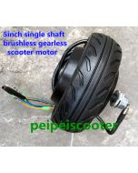5 inch 5inch BLDC single shaft brushless gearless dc hub motor for scooter motor with tire phub-31