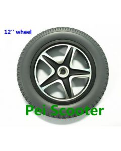 12 inch aluminum alloy Non inflatable tire wheel wheelchair motor drive wheel phub-12ta