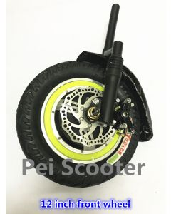 12 inch car head hub motor wheel with completely front fork and disc brake phub-12tf