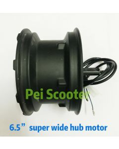 6.5 inch widely single shaft brushless no-gear dc hub motor phub-186