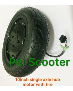 10 inch tubeless tyre single shaft brushless no-gear dc 6 inch balance scooter  wheel hub motor phub-176