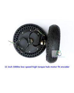 11 inch solid tyre built-in encoder service low speed high torque robot hub motor wheel phub-11e