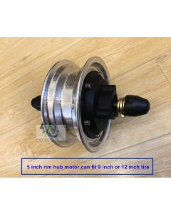 5 inch rim integrated motor wheel,can fit 12 inch tire or 9 inch tire phub-5rm