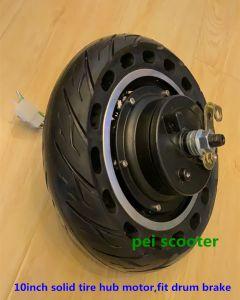 10inch solid tire Double axles Hub wheel motor with drum brake phub-10ddm