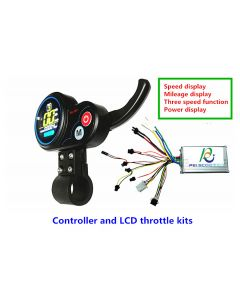 20A scooter brushless controller and LCD throttle kits,which can set 36v 48v 60v voltage diy-10