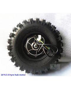 16 inch 16*6.50-8 wide tyre dual axles brushless wheelbarrow hub motor phub-16wb