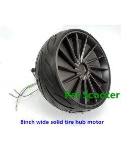 8 inch solid wide tire single axle hub motor wheel for balance scooter phub-8ws