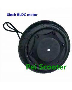 8inch brushless gearless single shaft hub motor for DIY robot scooter hub motor with encoder phub-8em