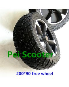 8 inch 200*90mm wide tire free wheel without motor phub-213f