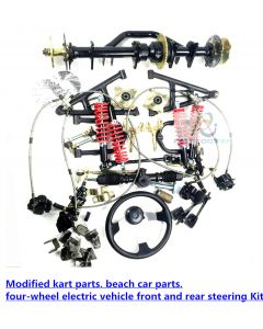 Modified kart parts, beach car parts, four-wheel electric vehicle front and rear steering Kit PCS-D4