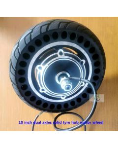 10 inch solid tyre dual axles brushless scooter hub motor phub-10cn