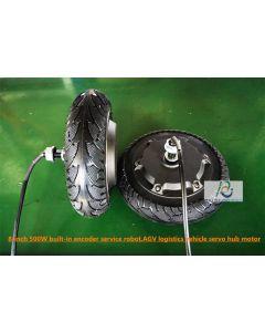 8-inch 500W built-in encoder service robot motor,logistics vehicle servo hub motor phub-8ek