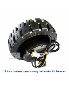 11 inch single axle Low speed,strong torque built-in encoder service robot motor,logistics vehicle servo motor phub-11sn