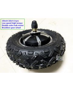 10inch 10x4-6 tyre low speed high torque double axles hub motor Brushless gear wheel phub-h9