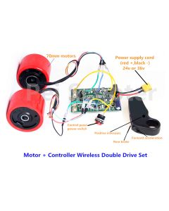 two 70mm hub motors and controller Wireless Double Drive Set,With remote control,with hall sensor pts-01