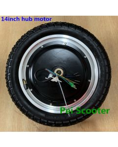 14inch BLDC 14 inch double axles brushless gearless dc hub motor with tire for balance scooter kit Model:phub-14hw
