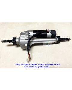 400w brushed mobility scooter transaxle motor with electromagnetic brake PPSM400L-01