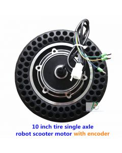 10 inch tire single axle robot scooter with encoder hub wheel motor phub-10ed