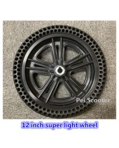 12inch 12 inch super light wheel Plastic steel motor drive wheel for wheelchair robot scooter wheel with tires phub-12sw