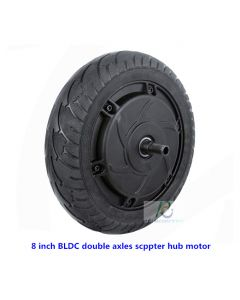 8inch 8 inch tyre BLDC double axles brushless gearless power scooter wheel hub motor phub-8nk