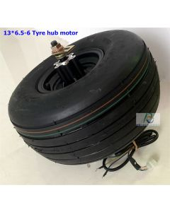 13 inch 13inch 13X6.50-6 wide tyre double axle brushless gearless dc scooter hub wheel motor can fit disc brake phub-167S