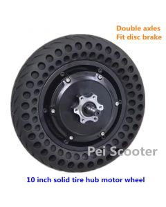 10 inch strong power double shaft scooter brushless non-gear hub wheel motor with solid tire phub-c10