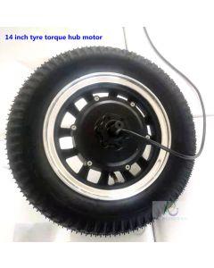 14 inch tyre brushless gear low-speed power-torque hub motor phub-14ps