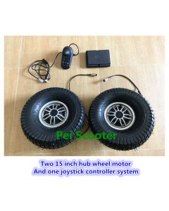 Two 15 inch 15*6.0-6 tire hub wheel motor And one joystick controller system psys-01