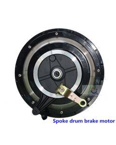 Spoke hub motor fit drum brake BLDC brushless gearless electric bike wheel phub-499