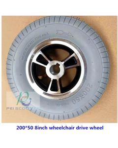 8inch 200x50 tire aluminum alloy hub wheel,motor drive wheel,for wheelchair scooter wheel with tires phub-8tbc