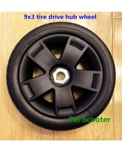 9x3 PU tyre drive hub wheel for wheelchair DIY motor and scooter motor phub-9dw