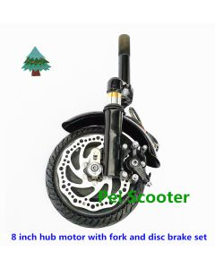 8 inch scooter fork head with hub motor wheel,for front fork and disc brake phub-8tf