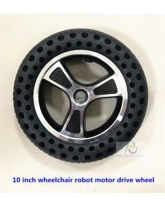 10 inch aluminum alloy wheelchair robot motor drive wheel phub-10twb