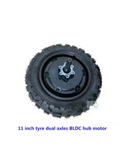 11inch 11 inch tire brushless gearless dual shafts hub motor for DIY scooter phub-11ms