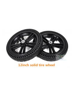 12 inch solid tire rear wheel,wheelchair motor drive wheel phub-12tfw