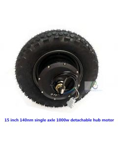 15 inch 140nm single axle 1000w detachable hub motor phub-15sn