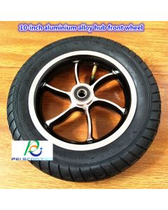 10 inch aluminum alloy hub wheel with 10x2 tire phub-10ftb