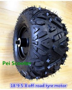 18 inch widen 18x9.5-8 off-road tyre brushless no-gear hub motor wheel can with disc brake for scooter phub-888