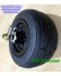 10inch 10 inch 10x6.0-5.5 wide tubeless tyre brushless gearless wheel hub motor,balance scooter hub motor,hally motor phub-238
