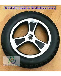 12inch 12 inch aluminum alloy inflatable tire hub wheel,motor drive wheel,for wheelchair scooter wheel with tires phub-12wn