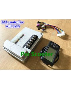 50A intelligent good quality brushless dc motor controller with LCD for strong power bike and scooter diy-02