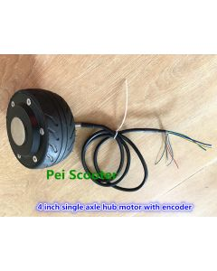 4 inch mini single shaft brushless non-gear electric scooter dc wheel hub motor with encoder phub-4e