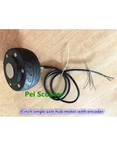 4 inch mini single shaft brushless non-gear electric scooter dc wheel hub motor with encoder phub-4e
