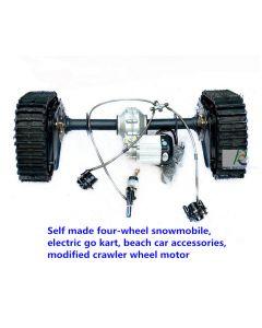 Self made four-wheel snowmobile,electric go kart,beach car accessories,modified crawler wheel motor PCS-20