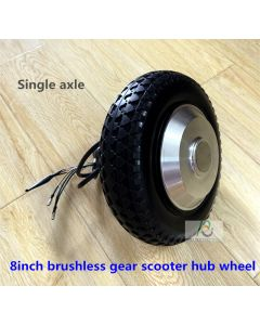8 inch 8inch single shaft brushless geared dc hub wheel motor for scooter motor phub-175t