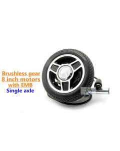 8 inch 8inch single axle Brushless geared wheelchair robot dc hub motor with electromagnetic brake PEWM-98