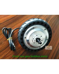 8 inch Brushless gear high torque double axles hub motor wheel phub-8BG