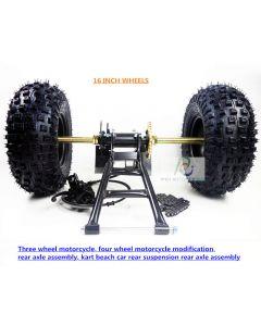 Three wheel motorcycle, four wheel motorcycle modification, rear axle assembly,kart beach car rear suspension rear axle PCS-D6