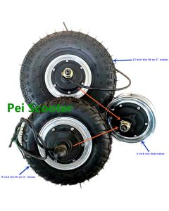 12 inch tire or 9 inch tire on 5 inch rim integrated motor wheel,BLDC pulley motor phub-925